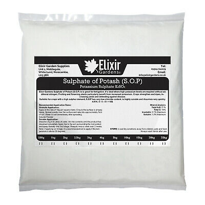 Sulphate of Potash/Potassium Sulphate Soluble Fruit Berries Tomato Fertiliser