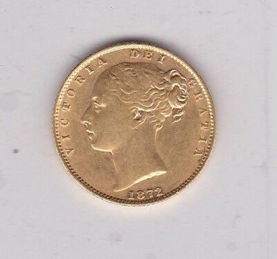 1872 Victorian Shield Back Sovereign In Good Extremely Fine Condition