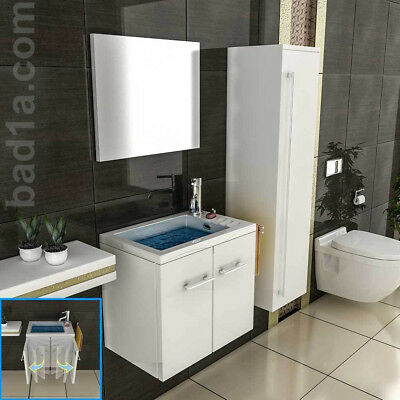 slimline design badm bel waschtisch softclose g ste wc wei hochglanz eur 214 00 picclick de. Black Bedroom Furniture Sets. Home Design Ideas