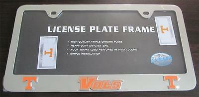 TENNESSEE VOLUNTEERS VOLS EMBLEM STICKER DECAL PREMIUM HEAVY DUTY CHROME METAL