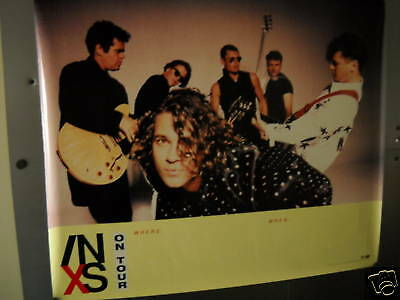 INXS Large Rare PROMO POSTER from 1990 NICE!