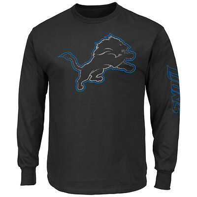 NFL Football DETROIT LIONS Long Sleeve LS- Langarm Shirt Up and Over