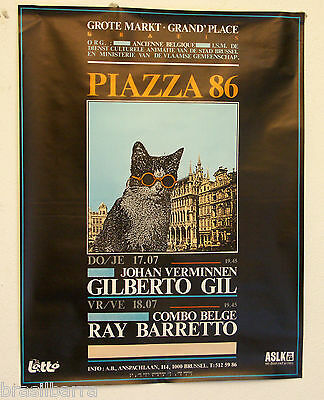 AFFICHE : PIAZZA 86 Gilberto Gil Ray Barretto