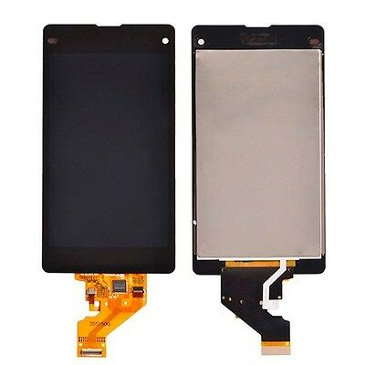 Display LCD Touchscreen Sticker Front Schwarz für Sony Xperia Z1 Compact D5503