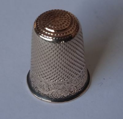 Good Quality, Antique Victorian English Gold Thimble, Xmas 1907