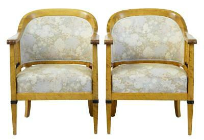 Pair Of Swedish Art Deco Birch Armchairs