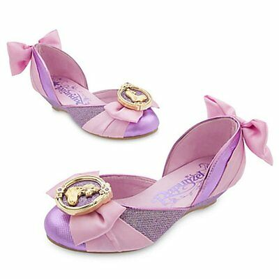 Disney Store Tangled Princess Rapunzel Dress Up Shoes Girls size 9/10 11/12 13/1