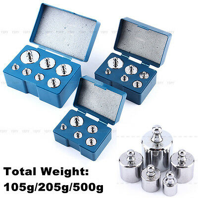 Silver 5Pcs/6Pcs/7Pcs/Set Scale Calibration Weight 105g 205g 500g Total Weight