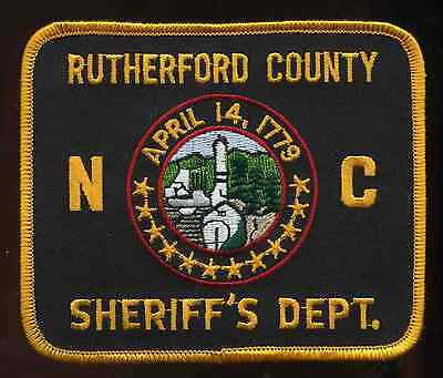 Vintage Rutherford County Sheriff's Depart North Carolina Shoulder Patch police