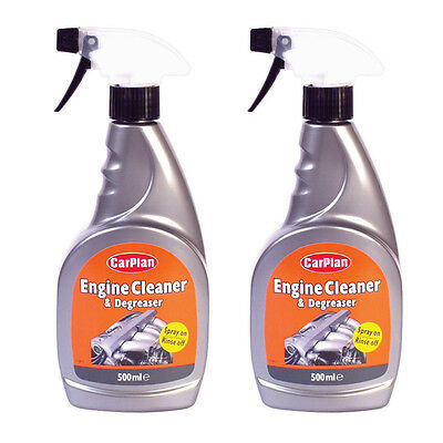 2 x Carplan Powerful Engine Cleaner Degreaser Removes Oil Dirt Grime 500ml Spray