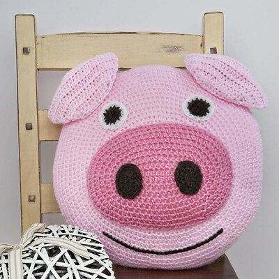 Wendy CROCHET KIT to  CROCHET PIG CUSHION. GREAT GIFT IDEA
