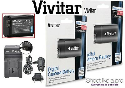 2-Pc Li-Ion NP-FW50 Battery & Rapid Charger For Sony NEX-F3 NEX-6 NEX-7 A7 A7R