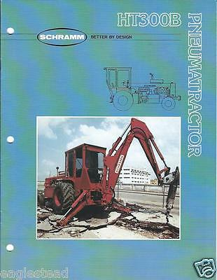 Equipment Brochure - Schramm - HT300B Pneuma-Tractor Air Compressor c1984 (E2617