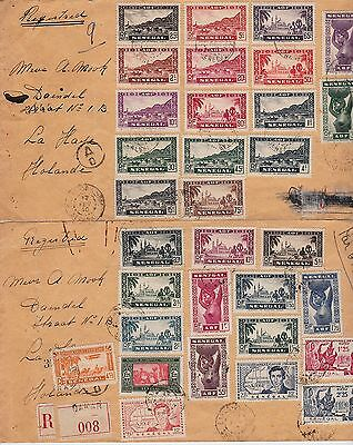 SENEGAL 32 George VI Stamps on 2 Covers dated 17th FEB 1940 Ref:LF8