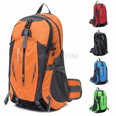 35L Men Large Travel Hiking Camping Waterproof Luggage Rucksack Outdoor Backpack
