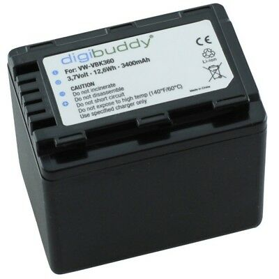 digibuddy Akku kompatibel zu Panasonic VW-VBK360 Li-Ion 8005296