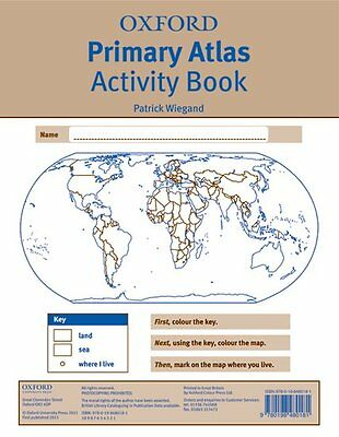 Oxford Primary Atlas Activity Book (2011), Paperback, Geography - 9780198480181