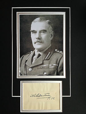 Sir William Robertson - Distinguished Wwi Army Officer - Superb Signed Display