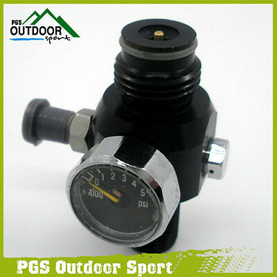 Paintball 3000psi HPA Mini Air Tank Regulator Valve 800psi Output Two Burst Disk