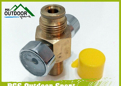 Paintball Co2 Tank On/off Valve With 1500Psi Gauge Free Shipping
