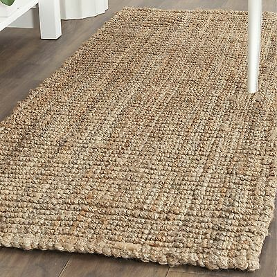 Safavieh Casual Natural Fiber Hand-Woven Natural Accents Chunky Thick Jute Rug (