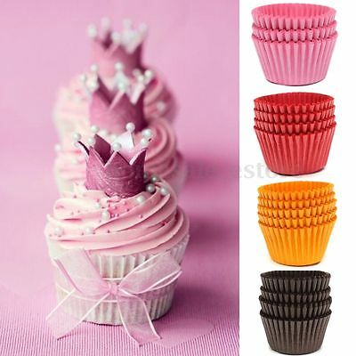 500pcs Xmas Paper Cake Cupcake Liner Case Wrapper Muffin Baking Cup Party