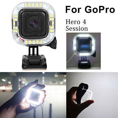 USB Lens 28LED Ring Flash Light Shooting+Wrist Belt For Gopro Hero 4 Session New