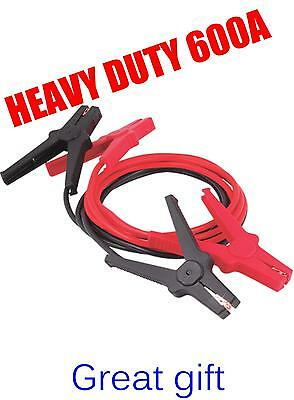 LONG quality Heavy Duty 600A 600AMP car booster cable jump start leads jumper 3M