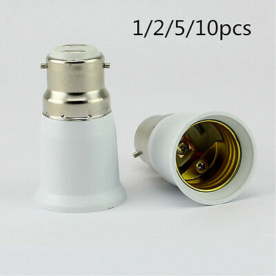 Bayonet BC B22 To ES E27 Screw Light Bulb Lamp Adaptor Fitting Converter Holder