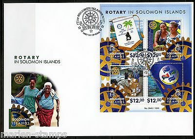 Solomon Islands 2015 Rotary In  Solomon Islands  Sheet First Day Cover