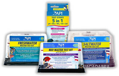 Api Master Test Kits Fresh Water Marine Reef Saltwater Strips Water Fish Tank