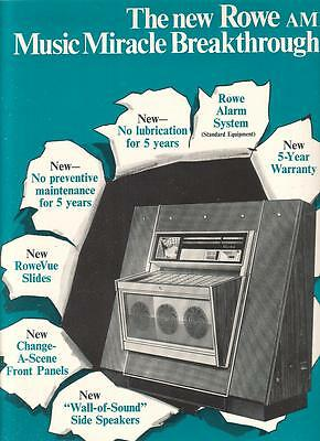 Rowe AMI phonograph 1969 Ad- music miracle breakthrough