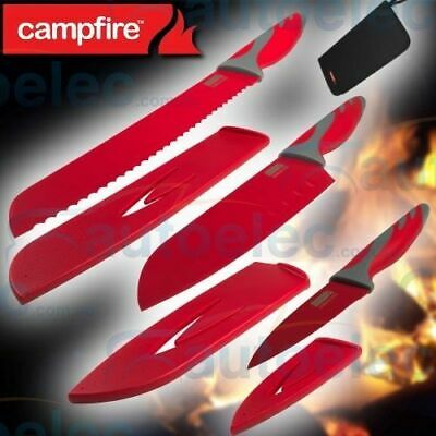 3 Piece Knife Knives Set Cooking Camping Camper Caravan Stainless Steel 716635