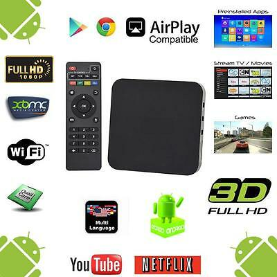 Quad Core 4.4 Android 1080P Smart TV BOX Fully Loaded Amlogic S805