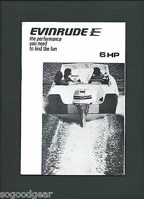 EVINRUDE 6 HP OWNER'S MANUAL 1970s