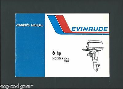 Evinrude 6 Hp Models 6202, 6203 Owner's Manual And Service Log