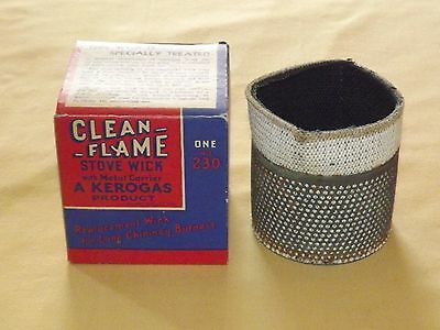 Vintage Chimney Burners Kerogas Clean Flame Stove Wick No. 230 Nos New In Box