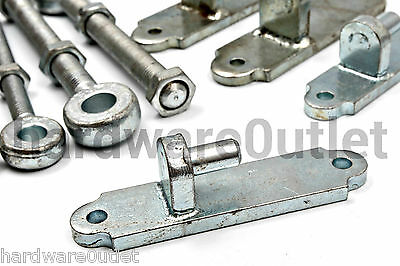 Pair of 12mm hinge pins with eyebolts