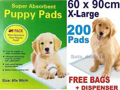 200x PUPPY DOG TRAINING PEE WEE PADS 60 x 90CM MAT TRAINER PET TOILET X LARGE XL