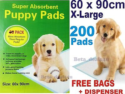 200x PUPPY DOG TRAINING PEE WEE PADS 60 x 90CM MAT HOUSE TRAINER PET X LARGE XL