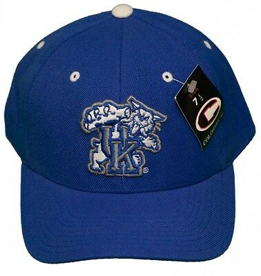 New! University of Kentucky Wildcats Curved Bill Fitted Hat 3D Embroidered Cap