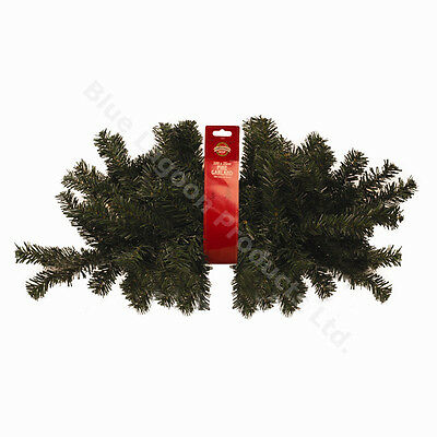 200cm x 25cm Fire Mantle Christmas Pine Garland Berries Cones Decoration