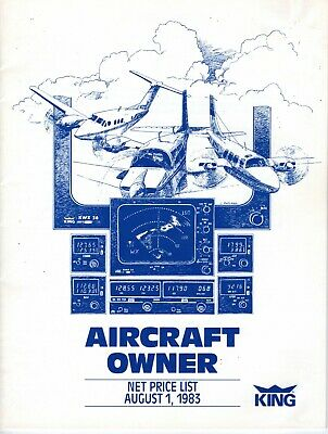 King's Aircraft Owner's Parts Net Price List For August 1, 1983 Rare Avionics