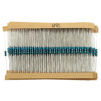 2600pcs 130 Values 1/4W 1% 0.25W Metal Film Resistors Resistance Assortment Kit