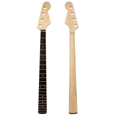 Neck  for Jazz Bass Guitar Parts Replacement 21 Fret Maple Rosewood Fingerboard