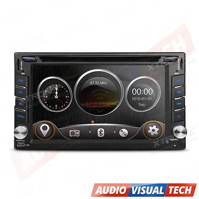 "XTRONS Double 2 DIN HD 6.2"" Touch Screen Car DVD Player GPS Sat Nav Stereo Radio"