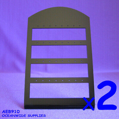 TOP SELLING 2X Earring Display Holder Stand | BLACK Acrylic | AUSSIE Seller
