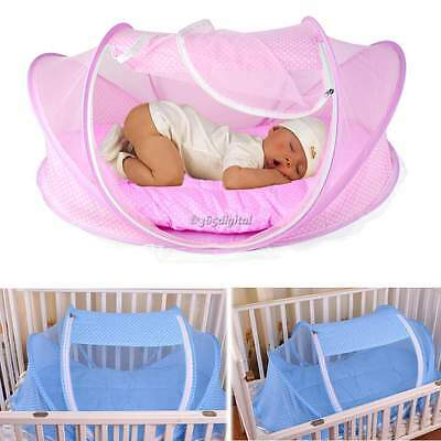 Portable pops up Baby Tent bed  Travel Sleep Mosquito Net Cotton-padded Mattress