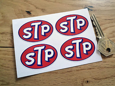 STP Oil Classic Car STICKERS 50mm Set of 4 Race Racing Sports Bike Motorcycle