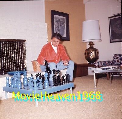 Bill Bixby At Home Vintage 2.25 Transparency #282B Photo Mary Wilson